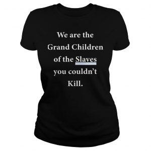 We Are The Grandchildren Of The Slaves You Couldnt Kill Shirt Classic Ladies Tee