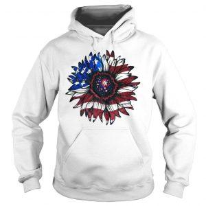 American flag sunflower shirt Hoodie