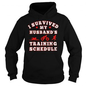 Swim bike run I survived my husbands training schedule shirt Hoodie