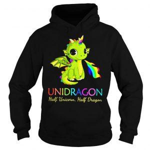 Unidragon half unicorn half unicorn shirt Hoodie