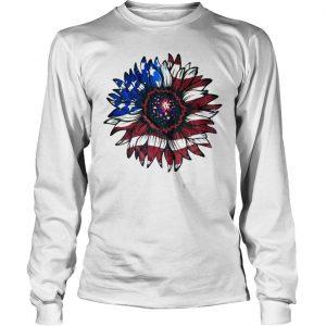American flag sunflower shirt Longsleeve Tee Unisex