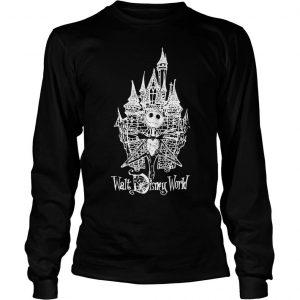 Jack Skellington at Cinderella Castle shirt Longsleeve Tee Unisex