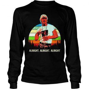 Matthew Mcconaughey vintage sunset shirt Longsleeve Tee Unisex