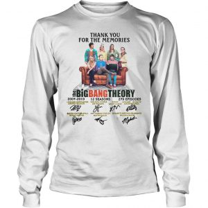 Thank You For The Memories The Big Bang Theory Shirt Longsleeve Tee Unisex