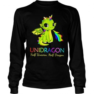 Unidragon half unicorn half unicorn shirt Longsleeve Tee Unisex