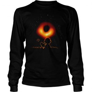 Woodstock Snoopy and Charlie Brown watching black hole 2019 Longsleeve Tee Unisex