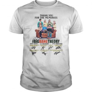 Thank You For The Memories The Big Bang Theory Shirt Shirt