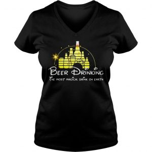 Disney Beer drinking the most magical drink on earth shirt Ladies V-Neck