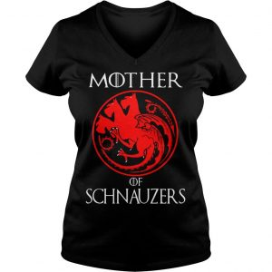 Game of Thrones Mother of Schnauzers shirt Ladies V-Neck