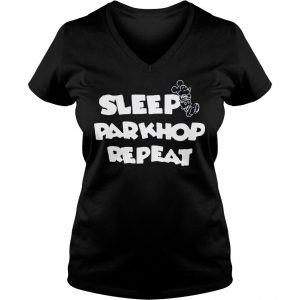 [Hot item] Mickey mouse sleep parkhop repeat shirt Ladies V-Neck