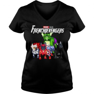 Marvel Avengers Endgame French bulldog Frenchie Avengers shirt Ladies V-Neck