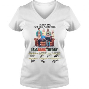 Thank You For The Memories The Big Bang Theory Shirt Ladies V-Neck