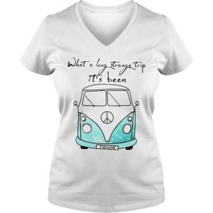 What a long strange trip its been peace bus shirt hoodie tank top Ladies V-Neck