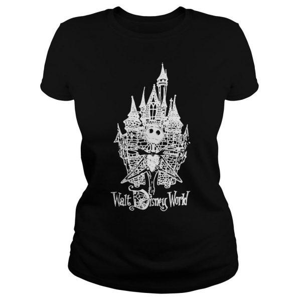 Jack skellington at cinderella castle walt disney world shirt