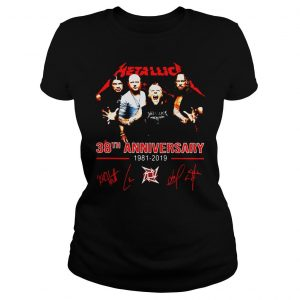 Metallica 38th anniversary 1981 2019 signature shirt Classic Ladies Tee
