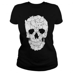 Sketchy Cat Skull shirt Classic Ladies Tee