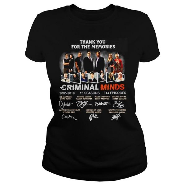 Thank you for the memories Criminal Minds 20052019 shirt Classic Ladies Tee