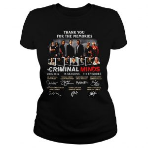 Thank you for the memories Criminal Minds 20052019 signature shirt Classic Ladies Tee