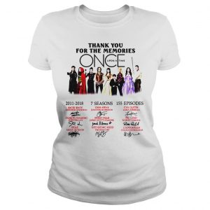 Thank you for the memories Once Upon a Time shirt Classic Ladies Tee