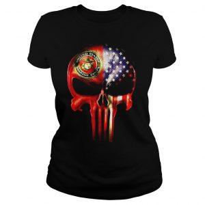 The Punisher United States Marine Corps America flag shirt Classic Ladies Tee