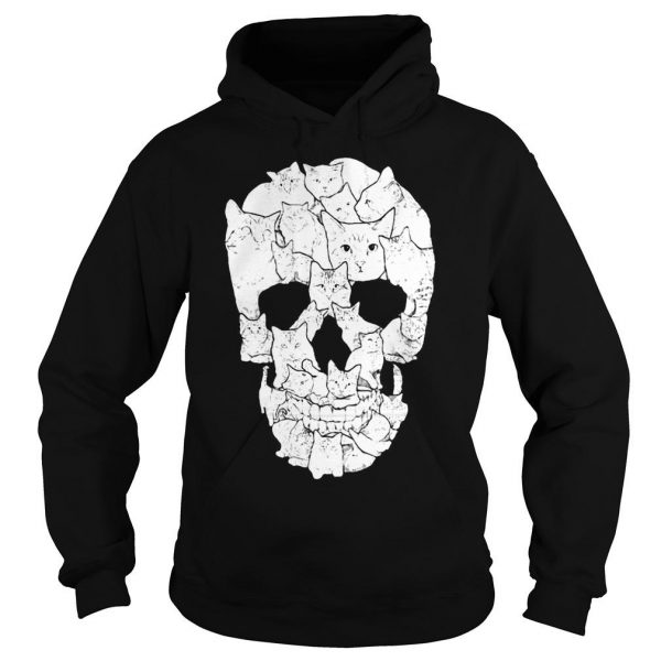 Sketchy Cat Skull shirt Hoodie