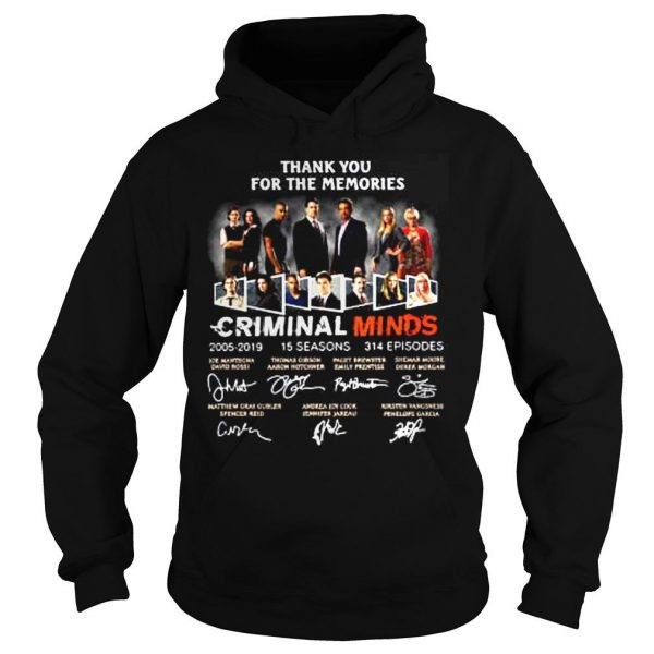 Thank you for the memories Criminal Minds 20052019 shirt Hoodie