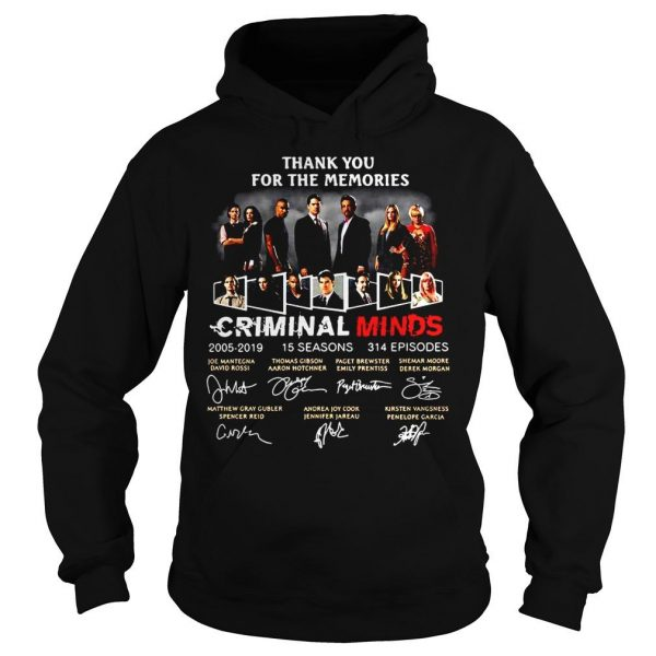 Thank you for the memories Criminal Minds 20052019 signature shirt Hoodie