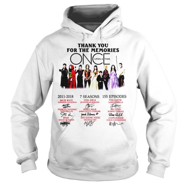 Thank you for the memories Once Upon a Time shirt Hoodie