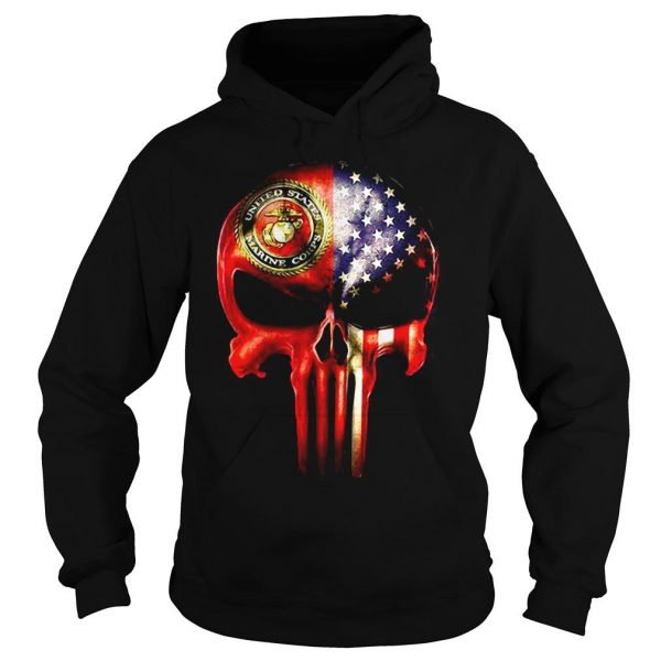 The Punisher United States Marine Corps America flag shirt Hoodie