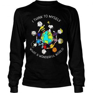 Peanuts Snoopy I think to myself what a wonderful world shirt Longsleeve Tee Unisex