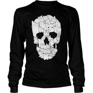 Sketchy Cat Skull shirt Longsleeve Tee Unisex