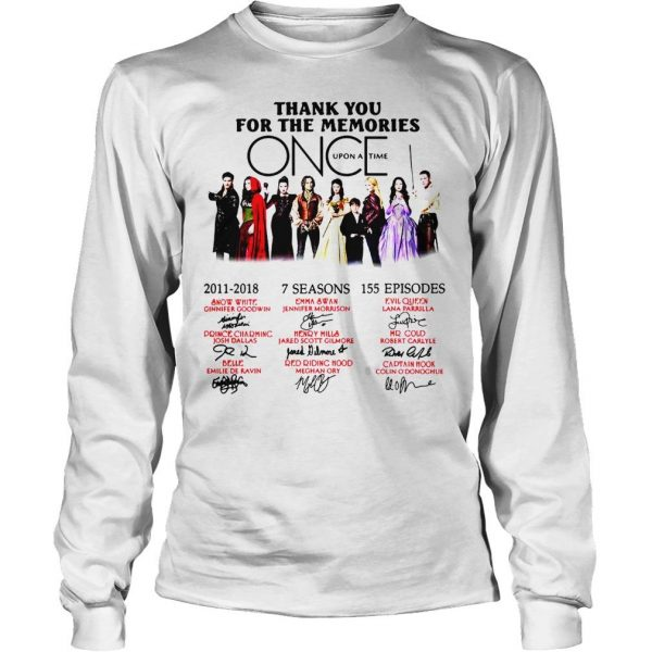 Thank you for the memories Once Upon a Time shirt Longsleeve Tee Unisex