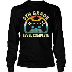 Vintage 5th grade level complete video gamer graduation shirt Longsleeve Tee Unisex