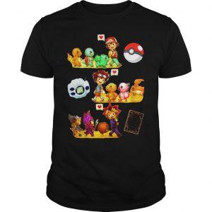 Friends Satoshi Pokemon Yagami Taichi Digimon Yugi Muto YuGiOh shirt Shirt