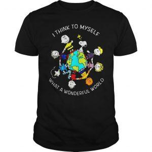Peanuts Snoopy I think to myself what a wonderful world shirt Shirt