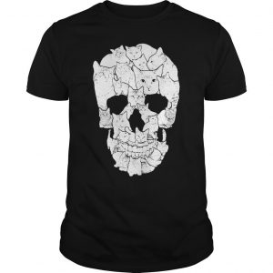 Sketchy Cat Skull shirt Shirt