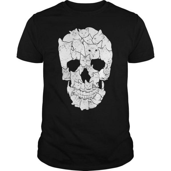 Sketchy Cat Skull shirt