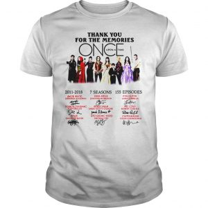 Thank you for the memories Once Upon a Time shirt Shirt