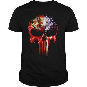 The Punisher United States Marine Corps America flag shirt