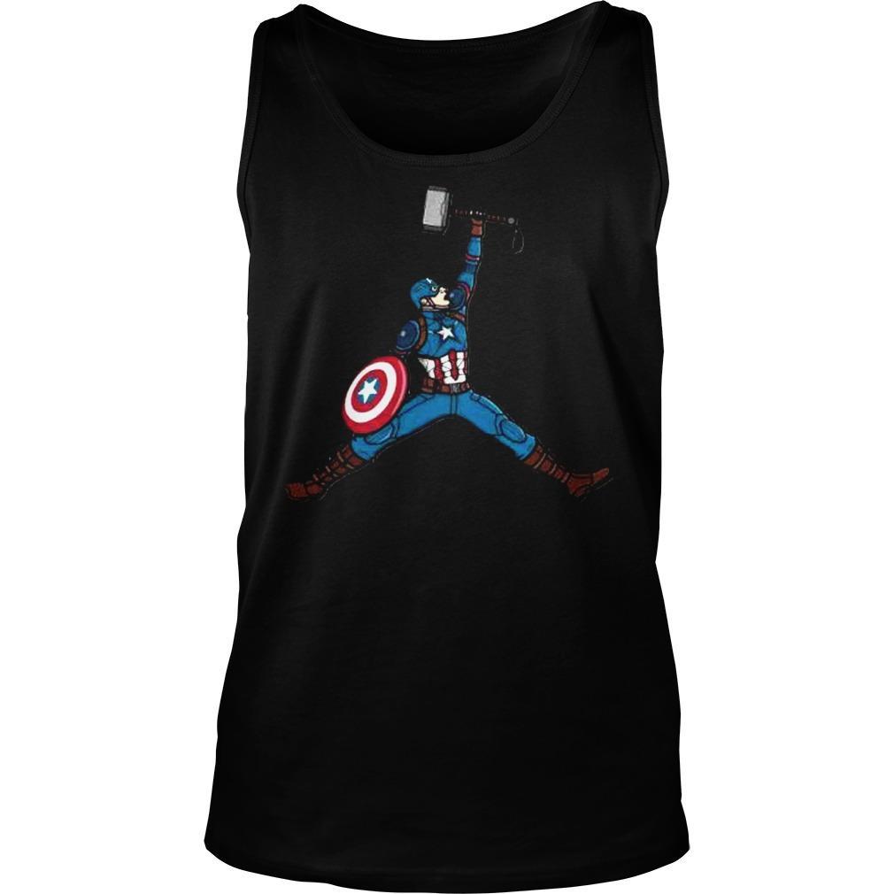 comerciante Comparación Medicina Forense  Captain America Hammer Air Jordan Shirt - teegogo.com