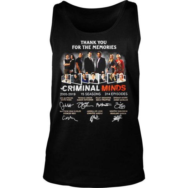 Thank you for the memories Criminal Minds 20052019 shirt TankTop