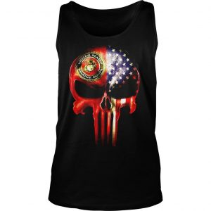 The Punisher United States Marine Corps America flag shirt TankTop