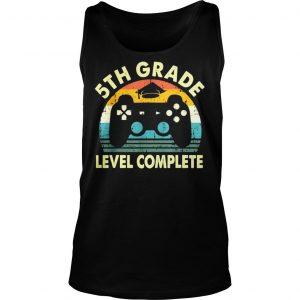 Vintage 5th grade level complete video gamer graduation shirt TankTop