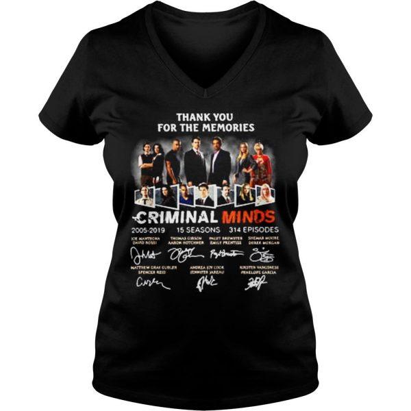 Thank you for the memories Criminal Minds 20052019 shirt Ladies V-Neck
