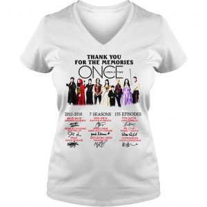 Thank you for the memories Once Upon a Time shirt Ladies V-Neck