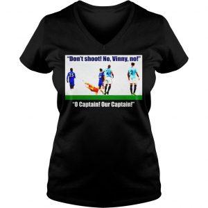 Vincent Kompany dont shoot no vinny shirt Ladies V-Neck