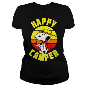 Peanuts Snoopy Happy Camper Vintage shirt Classic Ladies Tee