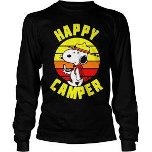 Peanuts Snoopy Happy Camper Vintage shirt Longsleeve Tee Unisex