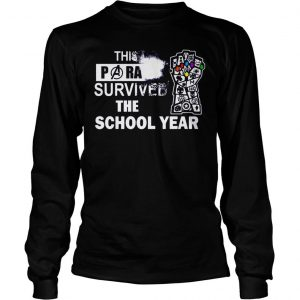 This Paraprofessional Avengers survived the school year shirt Longsleeve Tee Unisex
