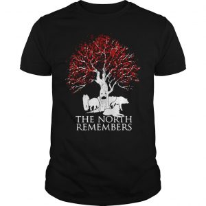 Game of Thrones Jon Snow wolf the north remembers shirt